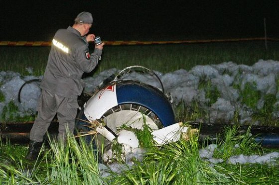 BFL nuotr./Katastrofa Rojūnų aerodrome
