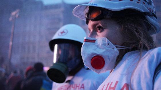 """Kadras iš filmo/""""Euromaidanas. Juodraštis"""""""