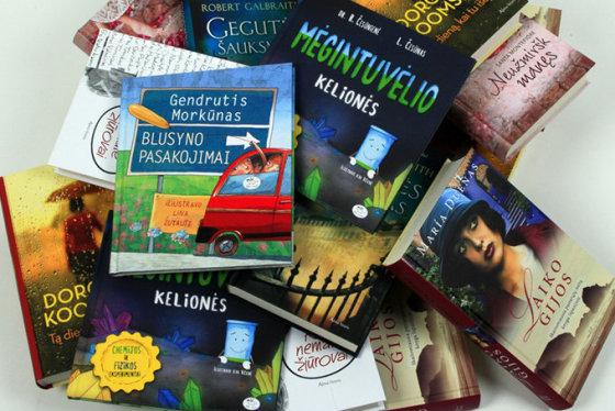 15min.lt nuotr./Knygos, kurias laimės konkurso dalyviai.