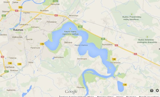 Kur iš Google žemėlapių dingo Nemunas