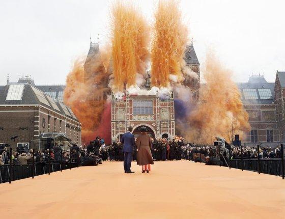 """""""Reuters""""/""""Scanpix"""" nuotr./Iškilmingas renovuoto Valstybinio muziejaus atidarymas Amsterdame"""