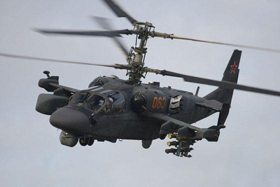"""russianhelicopters.aero nuotr./Rusijos kariuomenėje naudojamas sraigtasparnis """"Ka-52"""""""