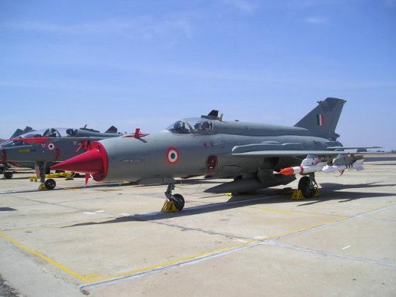 wikipedia.org/Sheeju nuotr./Indijos KOP naikintuvas Mig-21