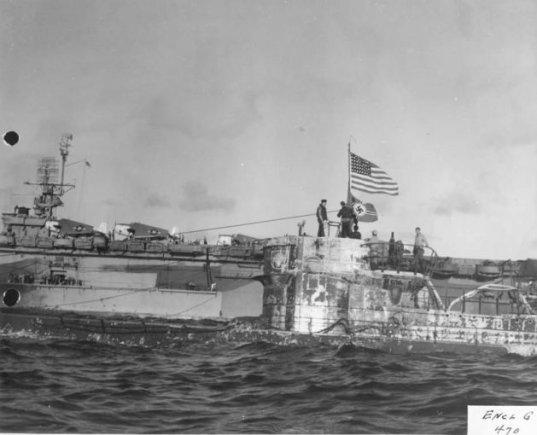 uboatarchive.net nuotr./Laive U-505 – amerikiečių jūreiviai