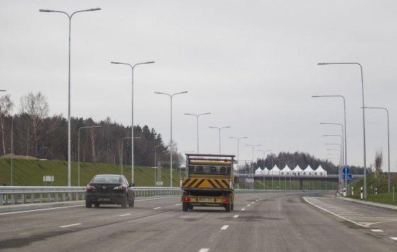 Irmanto Gelūno/15min.lt nuotr./Atidaryta Vilniaus vakarinio aplinkkelio atkarpa iki Pilaitės prospekto.