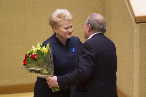 Irmanto Gelūno/15min.lt nuotr./Dalia Grybauskaitė ir Adamas Michnikas