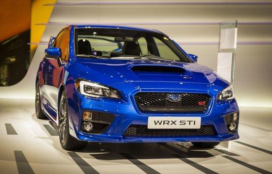 """Irmanto Gelūno/15min.lt nuotr./""""Subaru STI"""": sportiškiausias sedanas Ženevoje"""