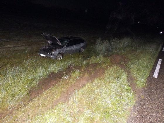 Marijampolės apskrities VPK nuotr./BMW po avarijos