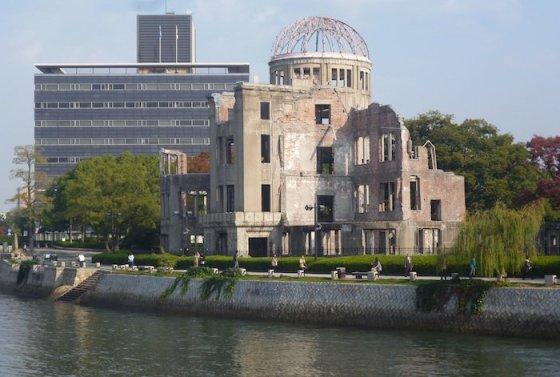 Eglės Digrytės nuotr./Atominės bombos sprogimą atlaikęs pastatas Hirošimoje