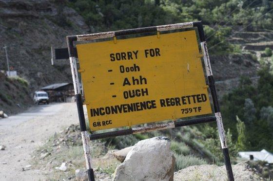 Keisti ženklai Indijoje