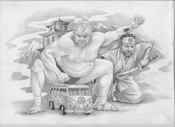 """""""Facebook"""" nuotr./Kita Vytaro Radzevičiaus ir Martyno Starkaus kelionė bus į Japoniją"""
