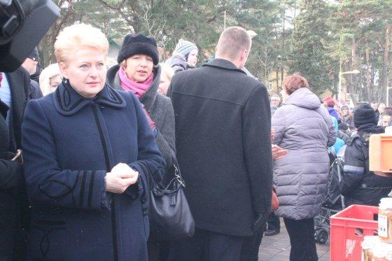 Aurelijos Kripaitės/15min.lt nuotr./Prezidentė Dalia Grybauskaitė šeštadienį lankėsi Palangoje