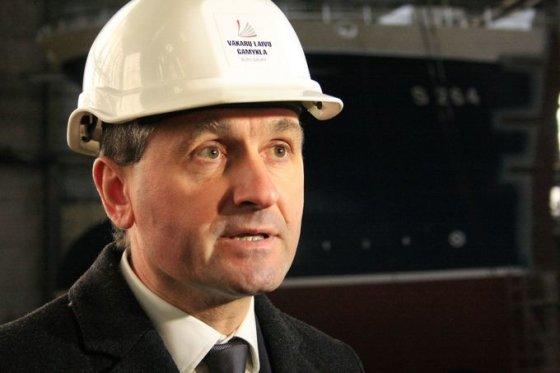 """Aurelijos Kripaitės/15min.lt nuotr./""""Vakarų laivų gamyklos"""" direktorius Arnoldas Šileika"""