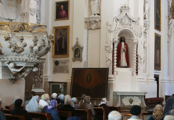 Juliaus Kalinsko/15min.lt nuotr./Jėzaus Kristaus skulptūra