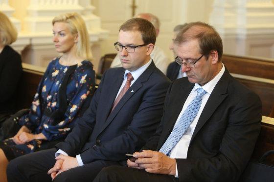 Juliaus Kalinsko/15min.lt nuotr./Vitalija Vonžutaitė, Vytautas Gapšys ir Viktoras Uspaskichas