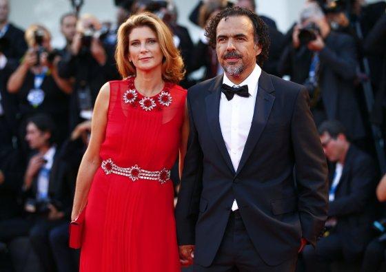 """Reuters""/""Scanpix"" nuotr./Alejandro Inarritu su žmona Maria Eladia Hagerman"