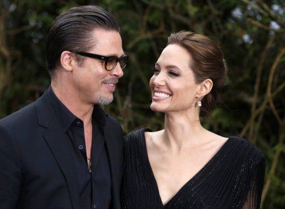 """""""Reuters""""/""""Scanpix"""" nuotr./Bradas Pittas ir Angelina Jolie (2014 m.)"""
