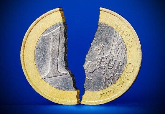 BFL nuotr./Suskilusi euro moneta