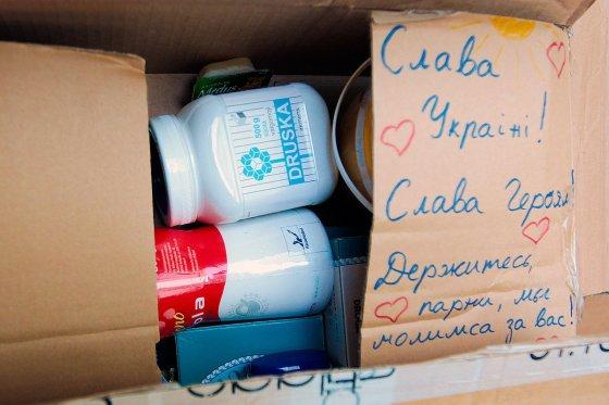 Jono Ohmano asmeninio archyvo nuotr./Humanitarinė parama pasiekė Kijevą
