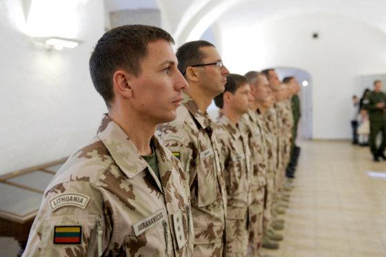 Alfredo Pliadžio nuotr./Iš Afganistano grįžusių Lietuvos karių sutiktuvės