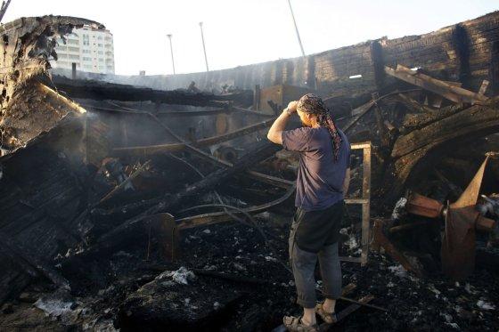 """AFP/""""Scanpix"""" nuotr./Izraelio oro atakų padariniai Gazos Ruože"""