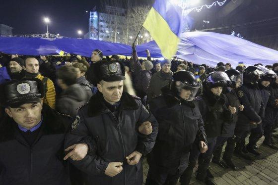 """Reuters""/""Scanpix"" nuotr./Protestas Donecke"
