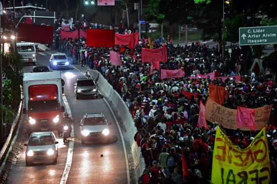 "AFP/""Scanpix"" nuotr./Protestas San Paule"