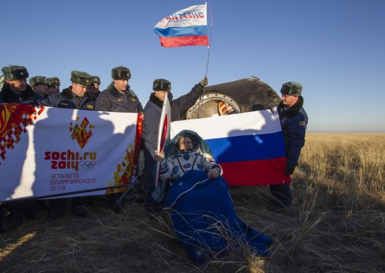 """AFP/""""Scanpix"""" nuotr./Rusijos kosmonautas Fiodoras Jurchikhinas"""