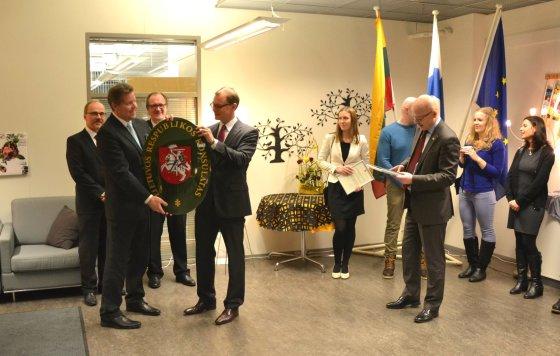 URM nuotr./Suomijoje, Kuopijo mieste atidarytas Lietuvos garbės konsulatas