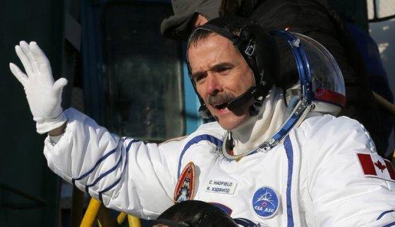 Kanados astronautas Chrisas Hadfieldas