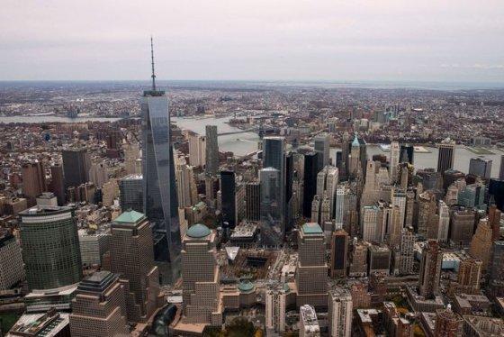 """AFP/""""Scanpix"""" nuotr./Naujasis Pasaulio prekybos centro dangoraižis Niujorke"""