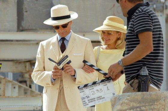 """""""ACME Film"""" archyvo nuotr./Viggo Mortensenas ir Kirsten Dunst filmo """"Apsimetėlis, sukčius ir dama"""" filmavimo aikštelėje"""