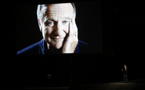 """Reuters""/""Scanpix"" nuotr./Billy Crystalas per Robino Williamso pagerbimą"