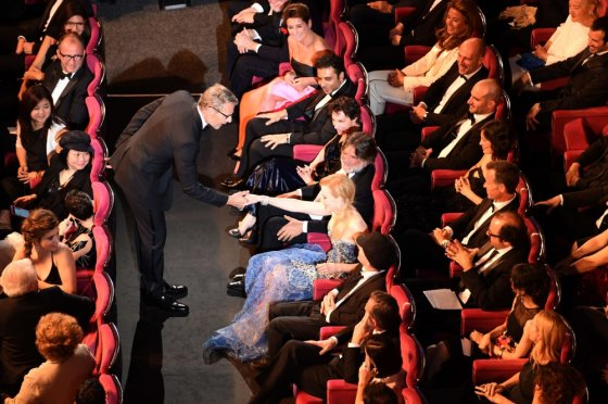 "AFP/""Scanpix"" nuotr./Nicole Kidman ir Lambertas Wilsonas"