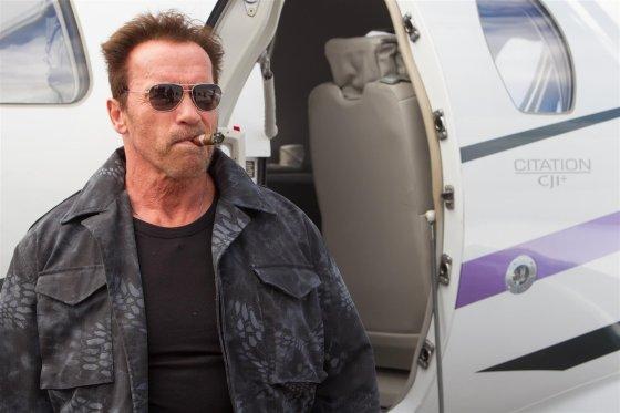 """""""Garsų pasaulio įrašų"""" nuotr./Arnoldas Schwarzeneggeris filme """"Nesunaikinami 3"""""""