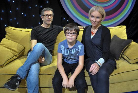 """""""Lietuvos ryto"""" televizijos nuotr./Jurga Karčiauskaitė-Lago ir Lino Lago su sūnumi Luku"""