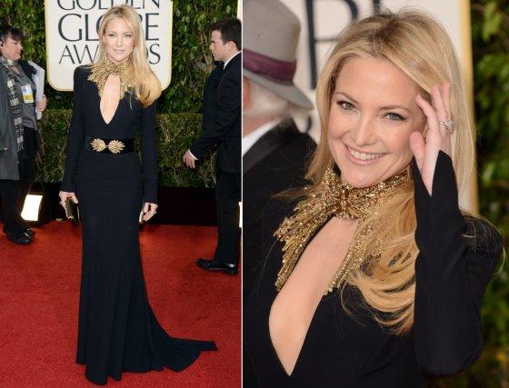"AFP/""Scanpix"" nuotr./Kate Hudson su ""Alexander McQueen"" suknele"