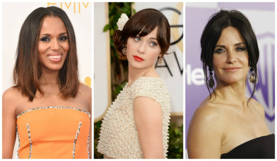 """Scanpix"" nuotr./Kerry Washington, Zooey Deschanel ir Courteney Cox"