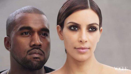 """Stop kadras/Kim Kardashian ir Kanye Westas """"Vogue"""" fotosesijoje"""