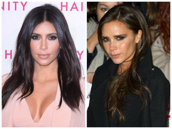 """""""Scanpix"""" nuotr./Kim Kardashian ir Victoria Beckham – iš tų garsenybių, kurios stengiasi mažiau šypsotis, kad turėtų mažiau raukšlių"""