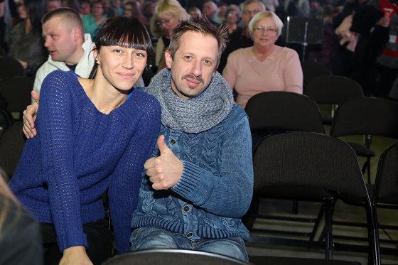 Teodoro Biliūno/Žmonės.lt nuotr./Linas Adomaitis su žmona Irma