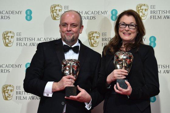 """AFP/""""Scanpix"""" nuotr./Markas Coulieras ir Frances Hannon apdovanoti už grimą filmui """"Viešbutis """"Didysis Budapeštas"""""""