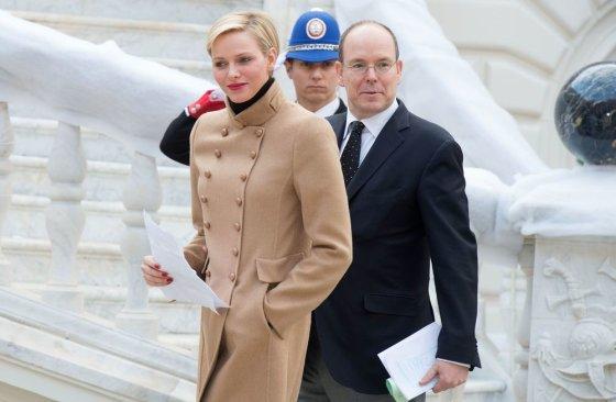 """Scanpix"" nuotr./Monako kunigaikštis Albertas II su žmona Charlene"