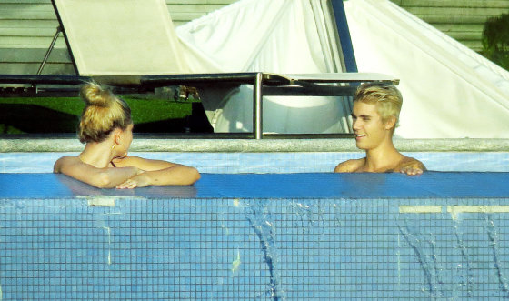 AOP nuotr./Hailey Baldwin ir Justinas Bieberis