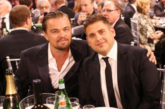 Leonardo DiCaprio ir Jonah Hillas