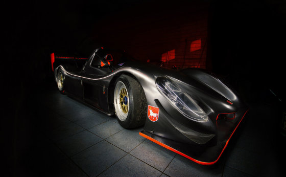 """Luko Misiūno nuotr./""""GSR Racing"""" komandos garažas"""