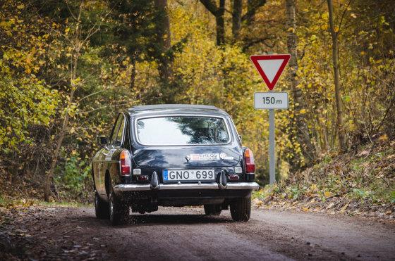 """Youngtimer.lv nuotr./Klasikinių automobilių ralis """"Rally Latvia"""""""