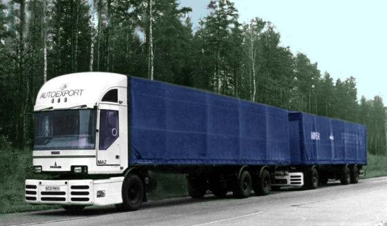 """Gamintojo nuotr./""""MAZ Perestroika"""" sunkvežimis"""