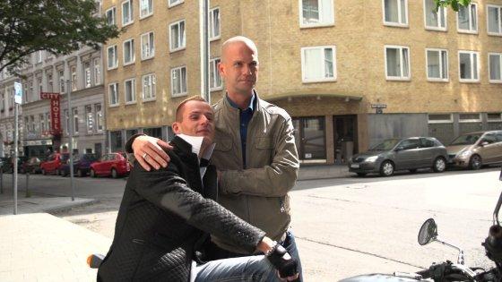 Mindaugas Grudzinskas su mylimuoju