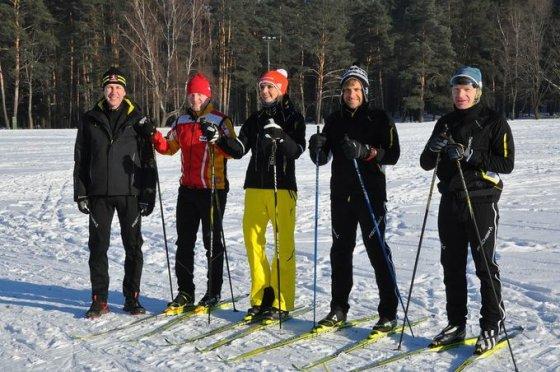 """TV6 nuotr./Benediktas Vanagas laidoje """"Atrask žiemos sportą"""""""